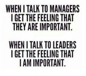 talk to leaders vs managers